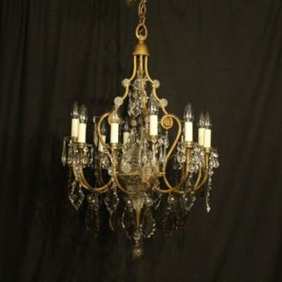 French Gilded 12 Light Antique Chandelier