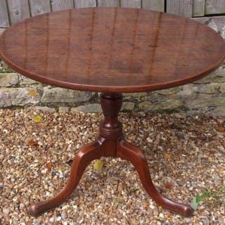 18th Century George III Period Mahogany Antique Tripod Table / Wine
