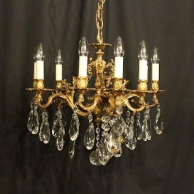 Italian Bronze 9 Light Antique Chandelier