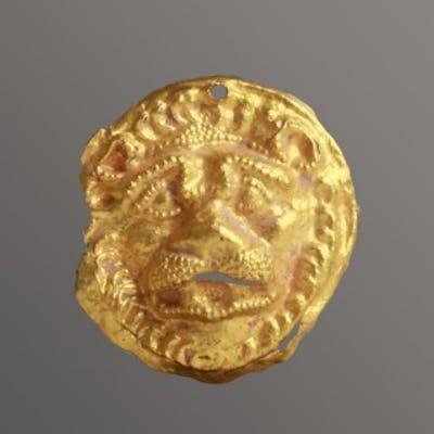 Western Asiatic Scythian Lion Head Appliqué