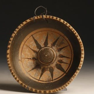 Ancient Greek Dish with Starburst Decoration