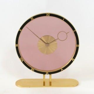 Art Deco Glass and Brass Clock - Kienzle, Germany