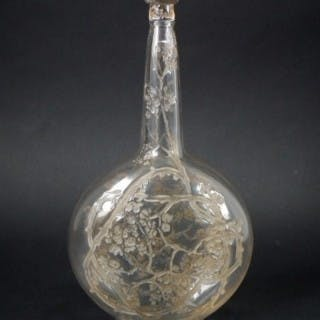Rene Lalique Glass 'Aubepines' Carafe (decanter)