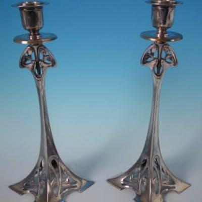 Pair WMF Art Nouveau Candlesticks
