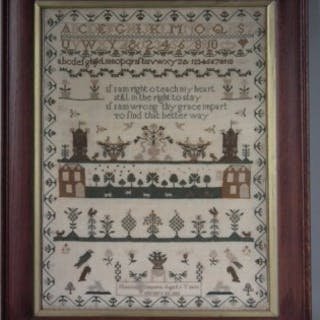 Antique Sampler, 1839 by Harriott Simpson