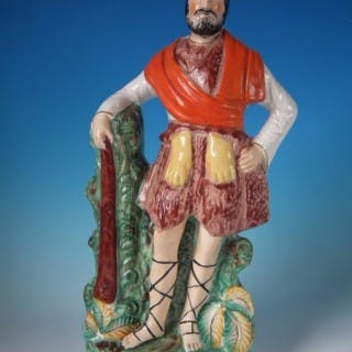 Staffordshire Pottery figure of Hercules - titled