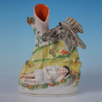 Staffordshire Eagle and child spill vase