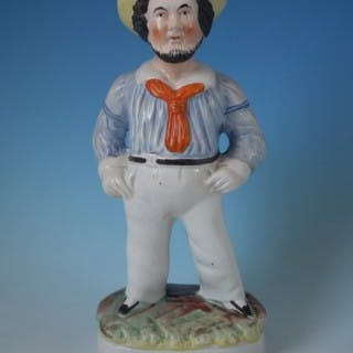 Staffordshire sailor figure