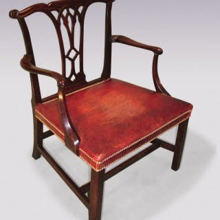 A mid-18th Century Chippendale period mahogany Armchair.