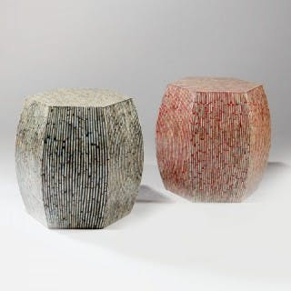 MOTHER PEARL AND LACQUER STOOLS