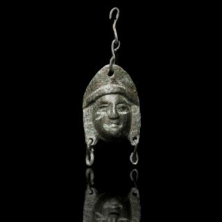 Roman Bronze Theatre Mask Appliqué