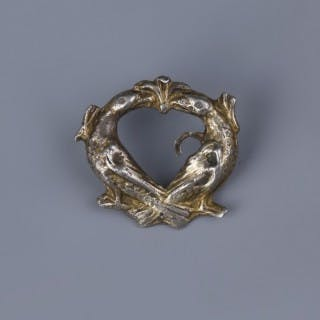 Norman Gilt Romanesque Buckle Brooch with Birds