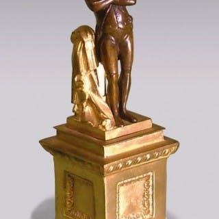 French mid 19th century bronze and ormolu model of Napoleon.