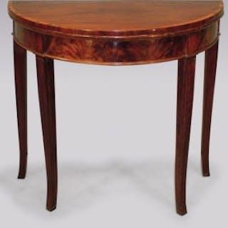 Antique Sheraton period mahogany Card Table.