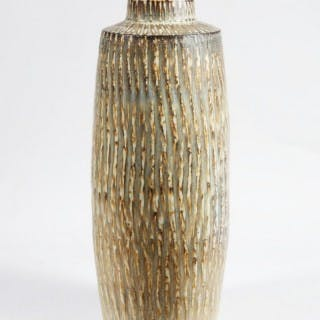 AN EXCEPTIONAL SIZE MID CENTURY SWEDISH POTTERY VASE – BY RORSTRAND