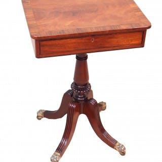Antique Regency Mahogany Lamp Table