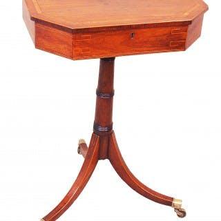 Antique Georgian Rosewood Octagonal Lamp Table