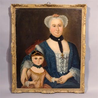 A Pair of Mid 18th Century Spanish Portraits - Oil on Canvas