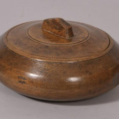 Antique Treen 19th Century Beech Herb Bowl