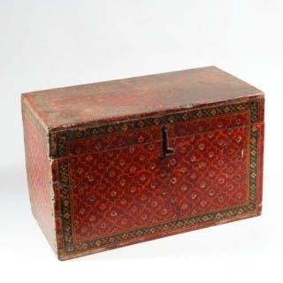 8bc0633f2e DECORATIVE RED LACQUERED INDIAN WOODEN BOX