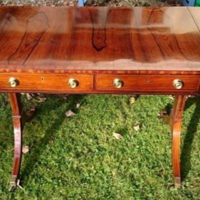 19th Century Regency Rosewood Antique Sofa Table
