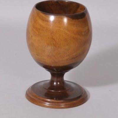 Antique Treen 19th Century Lignum Vitae Goblet