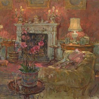 Morning Room with Orchid by Susan Ryder RP NEAC