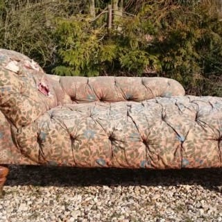 19th Century Victorian Period Early Day Bed Chaise Longue Attributed