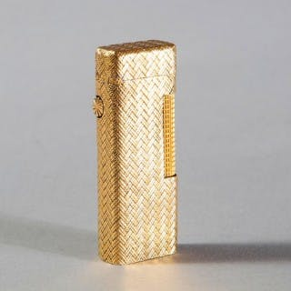 DUNHILL ROLLAGAS LIGHTER – WOVEN 18K GOLD OUTER JACKET