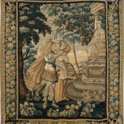 EARLY 18TH CENTURY AUBUSSON MYTHOLOGICAL TAPESTRY Circa 1720
