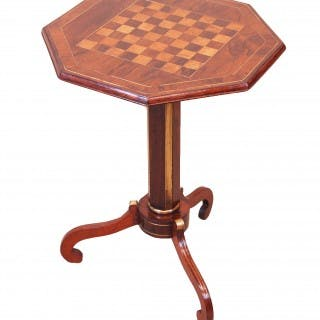 Antique Regency Rosewood Chess Top Lamp Table