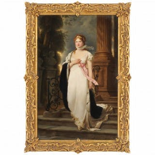19th Century KPM porcelain plaque of the Queen of Prussia, Duchess