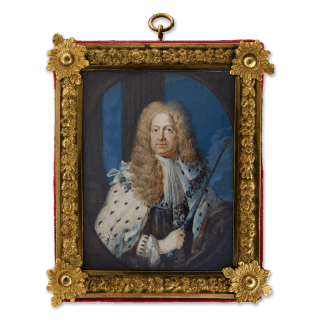Portrait miniature of King George I (1660-1727), wearing State Robes