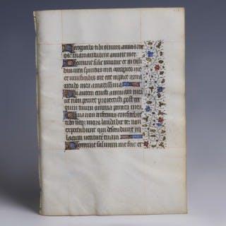 Medieval Illuminated Vellum Manuscript