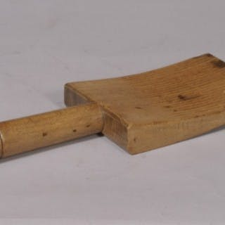 Antique Treen Sycamore Butter Curler