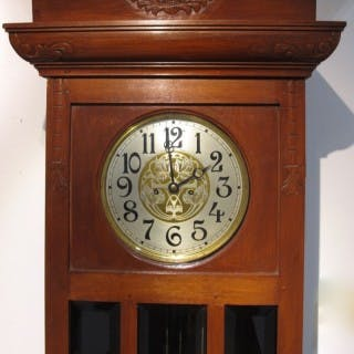 A very nice and decorative Dutch / Indonesian long case clock from