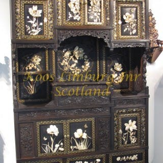 A Magnificent Oriental Japanese Cabinet With 13 panels Including The