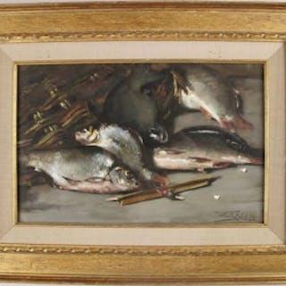 Crayon Still Life WILLEM E.ROELOFS jr. '03 Coarse Fish with Float