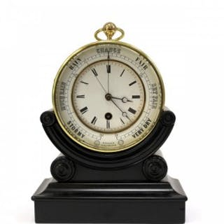 Bourdon and Richard's Patent clock and barometer