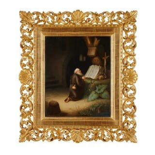19th Century KPM porcelain plaque of Saint Jerome