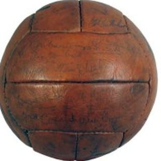 Signed Leather Arsenal Football