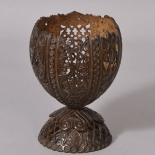 Antique Treen Early 20th Century Anglo Indian Coconut Cup