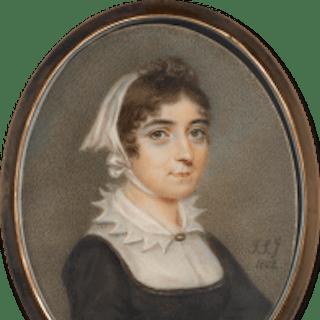 A lady, probably Adélaïde d'Orléans (1777-1847), wearing black dress