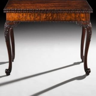 Fine Chippendale Concertina Card Table