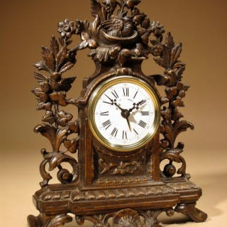 Rare Old Brown Colour Gild Cast iron Alarm mantel Clock, stamped for: