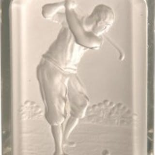 Baccarat Golfing Glass Pin Tray