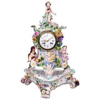 19th Century Meissen Porcelain Clock