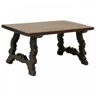 A rare walnut low table or stand, Spain, late 17th century