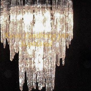 Murano Glass Melting Icicles Chandelier Light