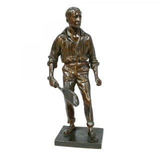 Bronze Tennis Figure, Wimbledon winner.